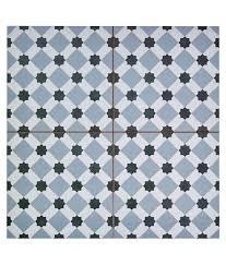 patterned porcelain floor tile retro square metre of henley