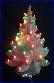 Vintage Atlantic Mold Ceramic Christmas Tree by Vintage 19 Lighted Atlantic Mold White Ceramic Christmas Tree