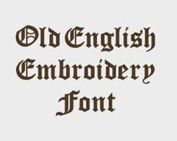 Old English Embroidery Machine Font In Multiple Formats 1 2