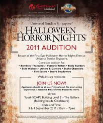 Halloween Horror Nights Auditions 2014 by Halloween Horror Nights 2011 Audition The Resorts World Sentosa Blog