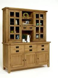 Fashionable Dining Room Dresser Grand Oak 3 Door Buffet Hutch China Cabinets And Hutches