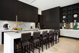Melbourne Chocolate Kitchen Decor With Manufactured Wood Adjustable Height Bar Stools Contemporary And Travertine Stone Tile
