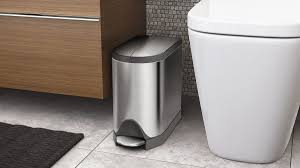 Small Bathroom Trash Can With Lid by Simplehuman Simplehuman 10l Stainless Steel Butterfly Step Trash Can