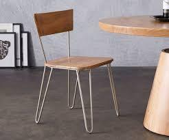 küchenstuhl veruca akazie natur massivholz metallgestell silber esszimmerstuhl moderne einrichtungsideen günstig bei möbel modern