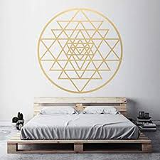 sri yantra muster vinyl wandaufkleber heilige geometrie