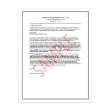 Emotional Support Animal Therapist Letter for Airlines and