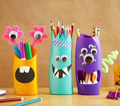 Mom And Kids Can Spend Some Quality Time Crafting These Cute Pencil Pen Holders Re Purpose Plastic Bottles At The Same Theyre Easy To Make