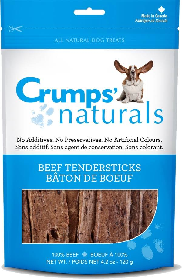 Crumps Naturals Tendersticks Dog Treats - Beef, 120g