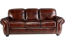 Brockett Brown Leather Sofa Leather Sofas Brown