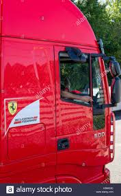 100 Ferrari Truck Truck Drive Taking A Cigarette Break Stock Photo 160368864