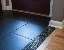 flooring creative flooring transitions between rooms stunning