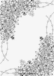 Floral Border Kleurpboek Coloring Page Book
