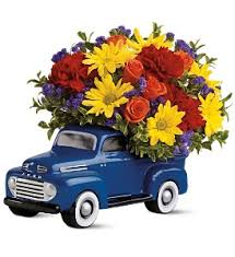 48 Ford Pickup Bouquet In Santa Monica CA Edelweiss Flower Boutique