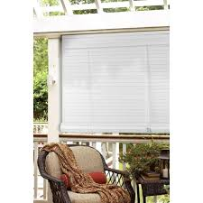 Roll Up Patio Shades Bamboo by Exterior Brown Patio Roller Shade Hanging On Wooden Deck Roof