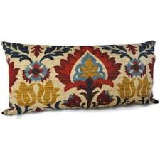 Red Decorative Lumbar Pillows by Blue And Red Floral Medallion Decorative Pillow Cover Square