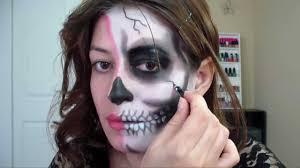 Halloween Half Mask Makeup half skull makeup tutorial for halloween youtube