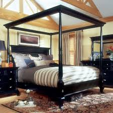 Black Canopy Bed Drapes by Excellent Black Canopy Bed Curtains Images Decoration Inspiration