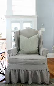 How To Slipcover Or Reupholster A Wingback Chair. Slipcover ... Sure Fit Stretch Stripe Wing Chair Slipcover Walmartcom Fniture Armless For Room With Unique Striped Wingback Beachy Blue White Surefit Sage Double Diamond Slipcovers Navy Parsons Used Moving Piqu One Piece Form Machine Washable Shop Ticking Free Indoor Chairs Covers Maytex Pixel 1 Back Arm Complete Your Collection Custom By Shelley Wingback Chair
