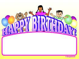 Christian Birthday Clipart