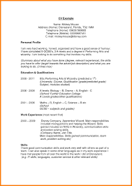 Objective Sample Fresh Resume Profile Related Post