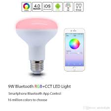 bluetooth smart led flood light bulb smartphone controlled