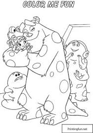Coloring Page Monsters Inc Party Decorations
