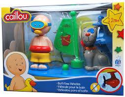 amazon com caillou bath time vehicle toys games
