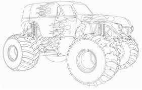 100 Monster Truck Coloring Book Pages Of S Sheets