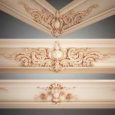 3ds Cornice Petergof K66 Detals False Ceiling Design