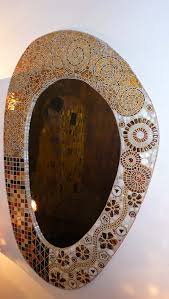 gustav klimt spiegel glas achat moderne wohnzimmer glas
