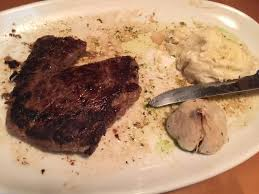 This was supposed to be a $22 11 oz Tuscan sirloin medium More