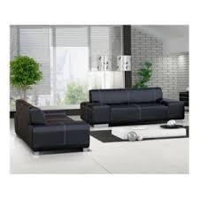 canape 3 2 places meublesline ensemble de 2 canapés 3 2 flavio simili cuir noir