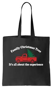 Family Christmas Tree Tote Bag