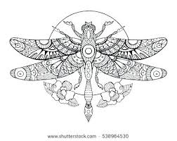 Dragonfly Coloring Page Pages Printable Butterflies Dragonflies Embroidery Pattern Simple