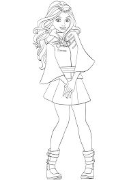 Descendants Disney Channel Coloring Pages Evie