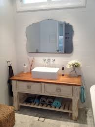 furniture white wooden shabby bathroom vanity with shelf and