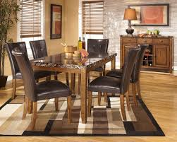 The Lacey Medium Brown 8 Pc Reclining Dining Room Table 6