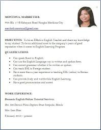 Sample Resume For Applying Teaching Job Best Collection Example Of