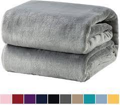 kuscheldecke grau flauschige decke weich warm wohndecke in wohnzimmer 150x200 cm flanell fleecedecke falten beständig anti verfärben als