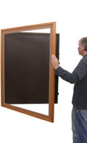 SwingFrame Designer Wood Frame Wall Mounted Large Display Case 2 Deep