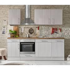 respekta premium küchenzeile landhaus 220 cm lärche weiß matt