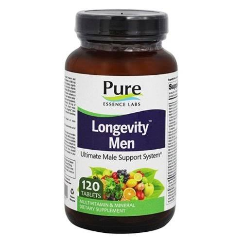 Pure Essence Labs Longevity Anti-Aging Multiple Men's Formula Dietary Supplement - 120 Tablets