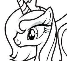 My Little Pony Princess Luna Coloring Pages Clipart