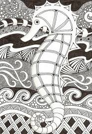 Most People Have A Fascination On Drawing And Coloring Even Children Love To Color In Mandala Seahorse Pages Are Good Ideas