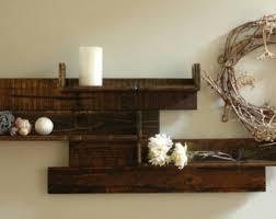 Modern Rustic Pallet Wood Shelves Reclaimed Wall Decor
