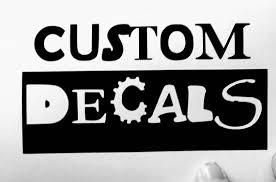Custom vinyl lettering priced per character 1 color custom