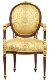 casa padrino luxus barock esszimmer stuhl mit armlehnen ludwig xv gold muster mahagoni braun möbel barockgroßhandel de