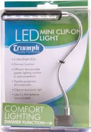 Triumph Desktop Magnifying Lamp by Triumph Led Mini Clip On Light