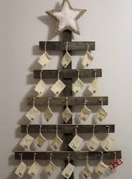 Rustic Wall Mounted Advent Calendar Wood Nails Glue Hammer Star Felt Pads Wine Corks Hanging Kit Christmas Ornament