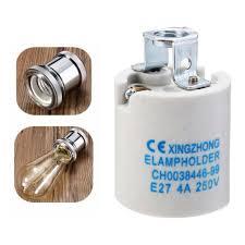 e27 medium base porcelain l holder keyless light bulb socket